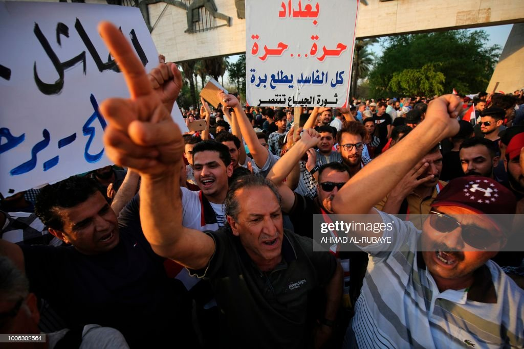 IRAQ-UNREST-DEMONSTRATION : News Photo