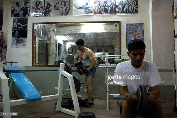 Iraqis work out at a professional gym Arnold Classic which is named after former Mr Universe actor and now Governor of California Arnold...