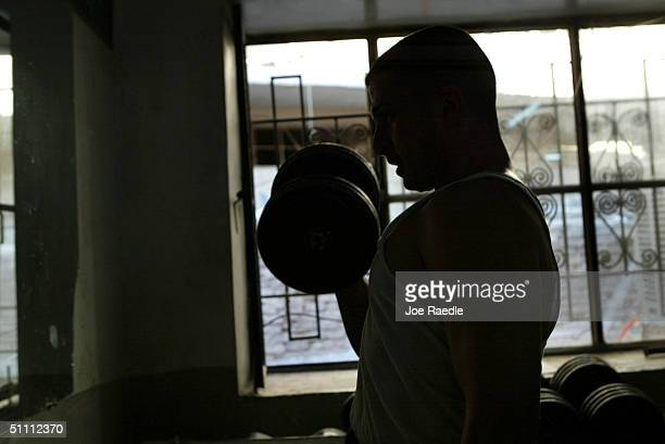 Iraqis work out at the professional gym Arnold Classic which is named after former Mr Universe actor and now Governor of California Arnold...
