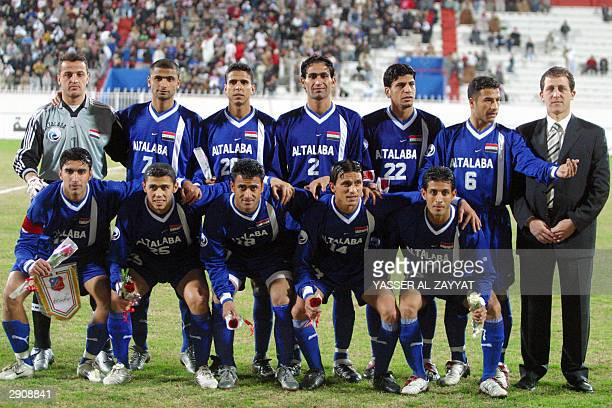 Iraq's alTalaba club poses for a photograph prior to their match against alKuwait club in the Arab Clubs Championship match in Kuwait city 28 January...