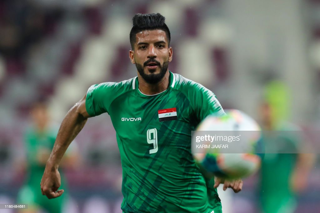 Iraq's forward Alaa Abbas runs after the ball during the 24th ...