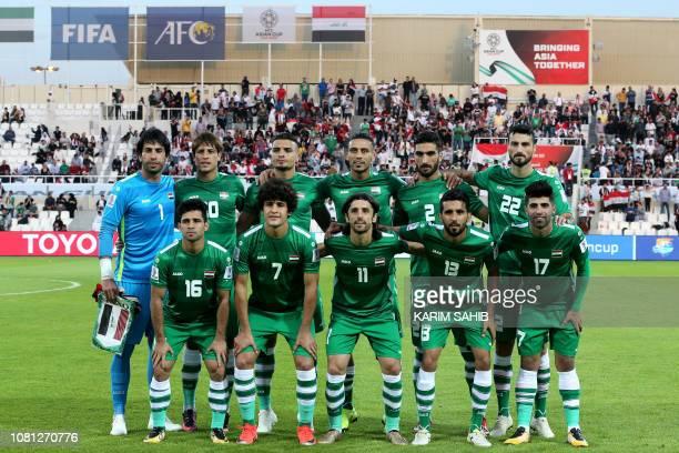 Iraq's goalkeeper Jalal Hassan Iraq's forward Mohanad Ali Kadhim Alshammari Iraq's midfielder Ahmed Yasin Iraq's defender Ali Adnan Iraq's defender...