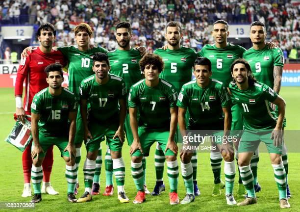 Iraq's goalkeeper Jalal Hassan Iraq's forward Mohanad Ali Kadhim Alshammari Iraq's defender Ahmad Ibrahim Iraq's defender Ali Faez Iraq's midfielder...
