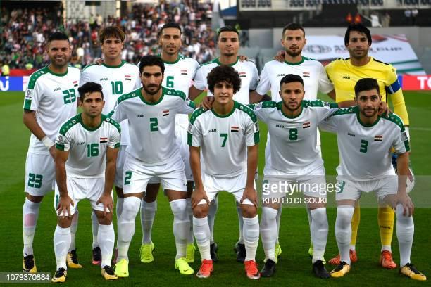 Iraq's midfielder Walid Salem Iraq's forward Mohanad Ali Kadhim Alshammari Iraq's defender Ali Adnan Iraq's midfielder Ahmed Yasin Iraq's defender...