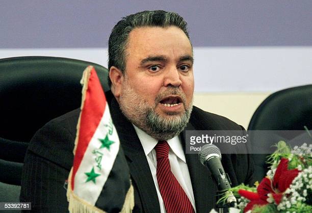 Iraq's national speaker Hajim alHasani announces to the National Assembly that the election draft committee has asked for an extension on their...