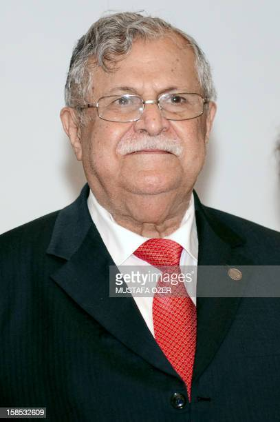 Iraq's President's Jalal Talabani attends a family photo after the 11th Economic Cooperation Organization Summit in Istanbul on December 23 2010...