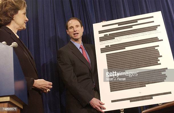 IRAQSen Dianne Feinstein DCalif and Sen Ron Wyden DOre during a news conference on the Senate Select Intelligence report on prewar intelligence on...