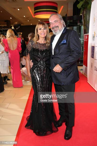 Ireen Sheer and her husband KlausJuergen Kahl during the 7th Fashion Charity Dinner and the Best of Awards at Hotel Leonardo Royal on April 29 2019...