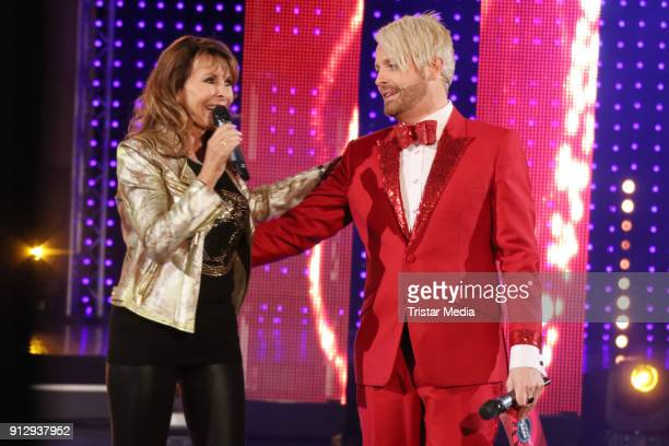 Ireen Sheer and Ross Antony during the TV Show 'Meine Schlagerwelt Die Party' hosted by Ross Antony on January 31 2018 in Leipzig Germany