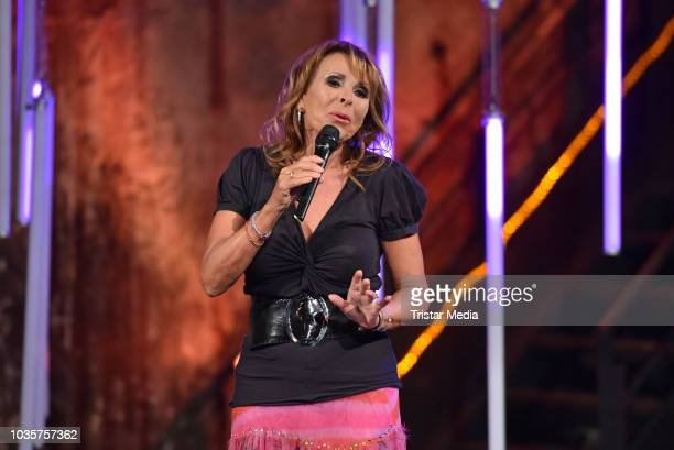 Ireen Sheer performs the TV recording of 'Die 80er Die grosse Musiknacht des rbb' on September 18 2018 in Berlin Germany