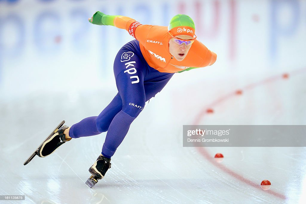 Ireen Wuest of Netherlands competes in the Ladies 1500m Group A race during day one of the ISU Speed Skating World Cup at Max Eicher Arena on February 9, 2013 in Inzell, Germany.