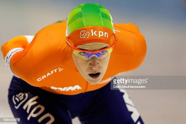 Ireen Wust of Netherlands competes in the 3000m Ladies race on Day 2 of the Essent ISU World Cup Speed Skating Championships 2013 at Thialf Stadium...