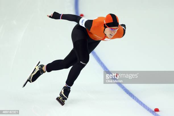 Ireen Wust of the Netherlands competes during the Women's 1000m Speed Skating event on day 6 of the Sochi 2014 Winter Olympics at Adler Arena Skating...
