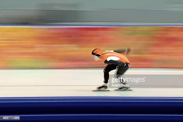 Ireen Wust of the Netherlands competes during the Women's 1500m Speed Skating event on day 9 of the Sochi 2014 Winter Olympics at Adler Arena Skating...
