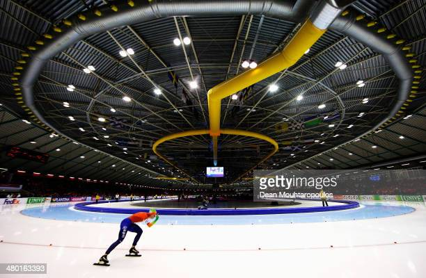 Ireen Wust of The Netherlands competes in the 5000m Ladies Race during day two of the Essent ISU World Allround Speed Skating Championships at the...