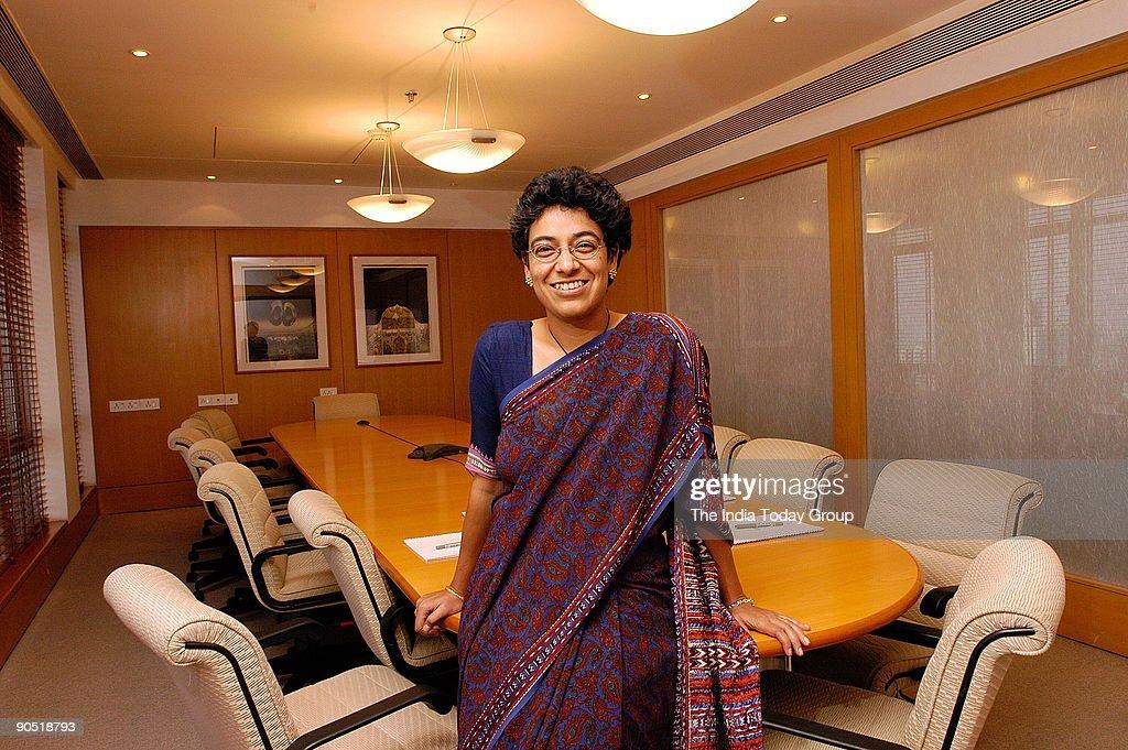 Ireena Vittal, Partner, McKinsey & Company, Poses at office
