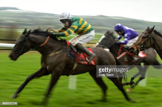 NAAS Ireland 10 December 2017 Aa Bee See with Mark Walsh up ahead of Mary Frances with Robbie Power up on their way to winning the 3 For 2 Festival...