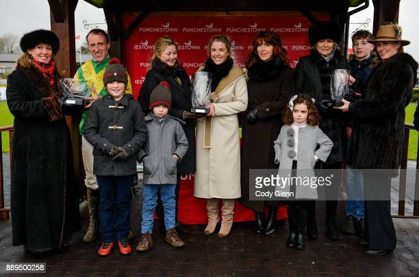NAAS Ireland 10 December 2017 Members of the Durkan family join trainer Jessica Harrington third from right and jockey Robbie Power second from left...