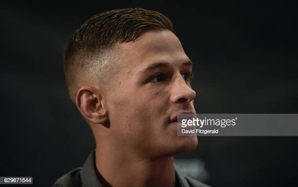DUB Ireland 14 December 2016 Tom Duquesnoy during the Bellator 169 BAMMA 27 Press Conference in The Gibson Hotel Dublin