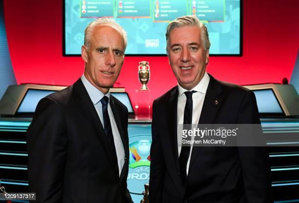 , Ireland - 2 December 2018; Republic of Ireland manager Mick McCarthy and John Delaney, CEO, Football Association of Ireland following the UEFA...