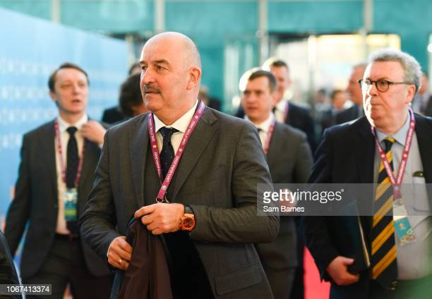 Ireland 2 December 2018 Russia head coach Stanislav Cherchesov arrives prior to the UEFA EURO2020 Qualifying Draw at the Convention Centre in Dublin