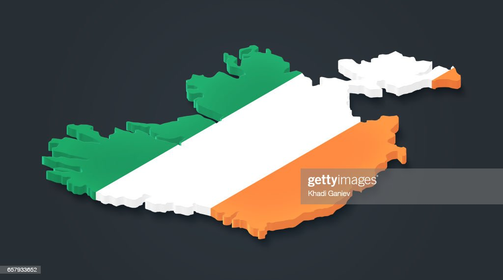 Map Of Ireland 3d.Ireland 3d Map Dark Background Stock Photo Getty Images