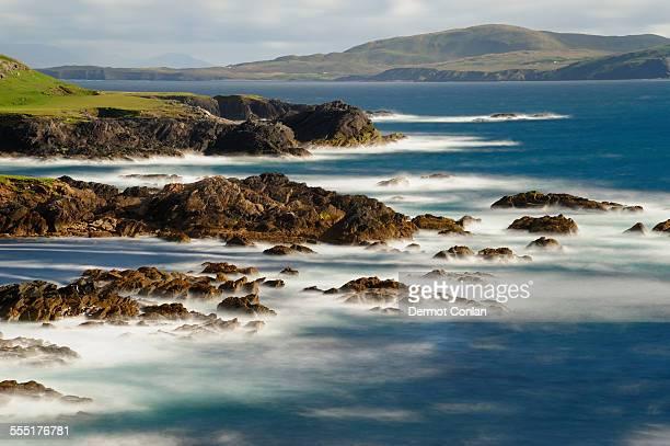Ireland, Achill Island, County Mayo, Seascape and rocky coast