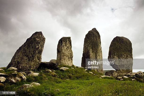 ireland: ancient standing stones, ring of kerry - ring of kerry stock photos and pictures