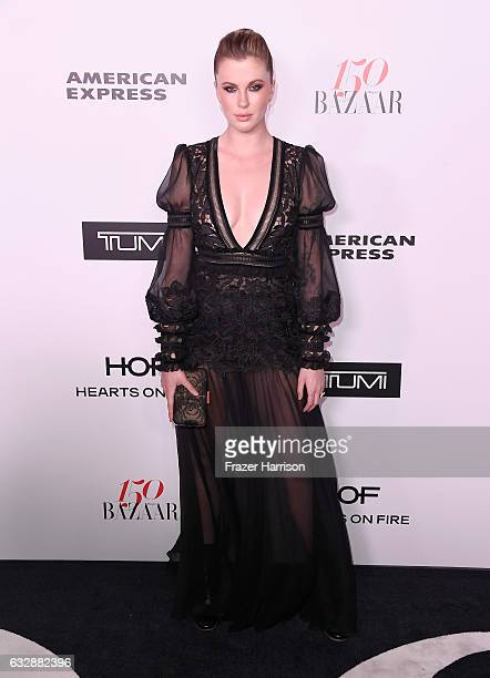 Ireland Baldwin attends Harper's BAZAAR celebration of the 150 Most Fashionable Women presented by TUMI in partnership with American Express La Perla...