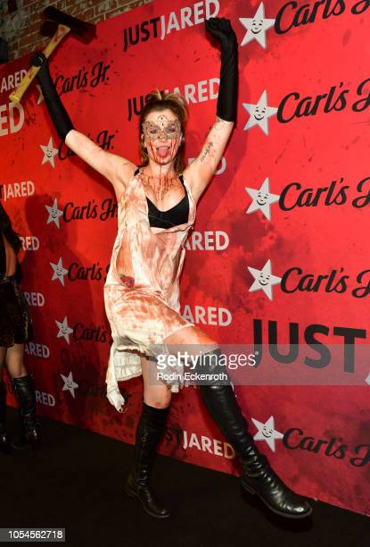 Ireland Baldwin attends Just Jared's 7th Annual Halloween Party at Goya Studios on October 27 2018 in Los Angeles California