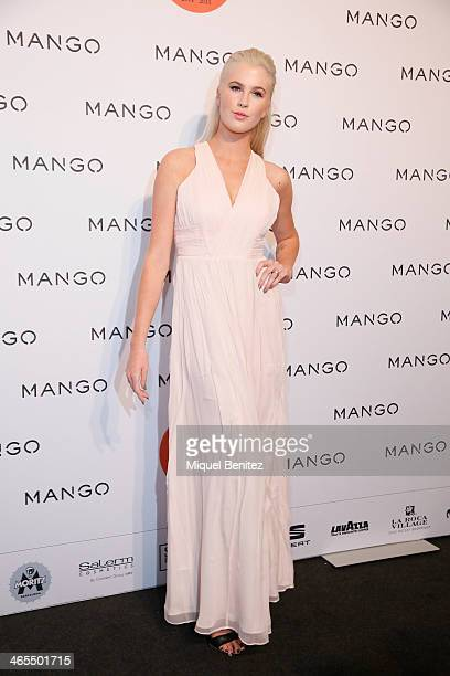 Ireland Baldwin poses during a photocall for the Mango Fashion show held at the Born Centre Cultural on January 27 2014 in Barcelona Spain