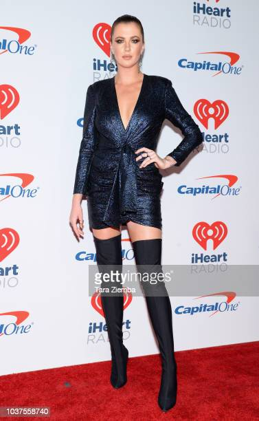 Ireland Baldwin poses in the press room during the iHeartRadio Music Festival at TMobile Arena on September 21 2018 in Las Vegas Nevada