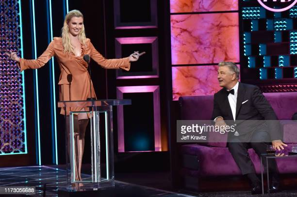 Ireland Baldwin roasts Alec Baldwin onstage during the Comedy Central Roast of Alec Baldwin at Saban Theatre on September 07 2019 in Beverly Hills...