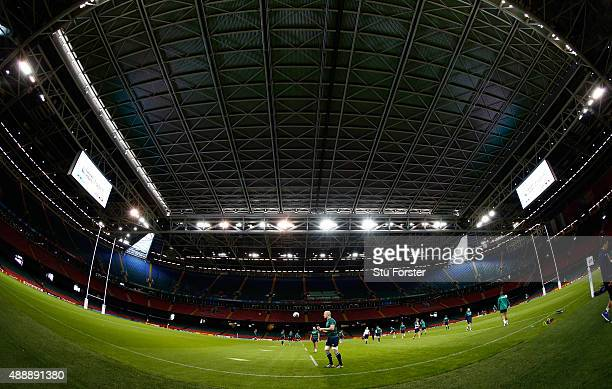 Ireland captain Paul O' Connell in action during Ireland Captains Run ahead of their opening 2015 Rugby World Cup match against Canada at Millennium...