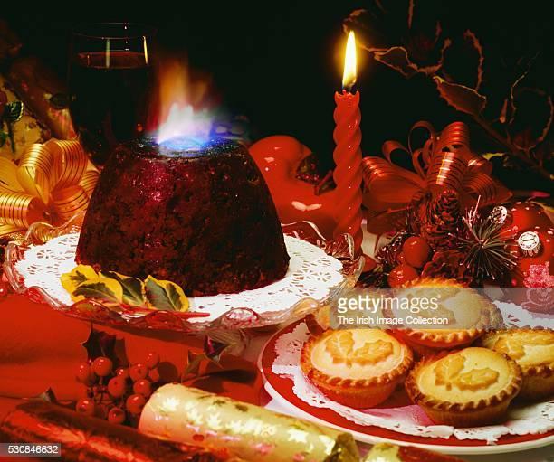 Ireland, Christmas Fare, Christmas Pudding & Mince Pies