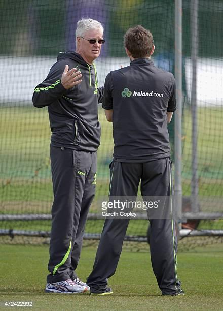 Ireland coach John Bracewell during a nets session on May 7 2015 in Malahide Ireland