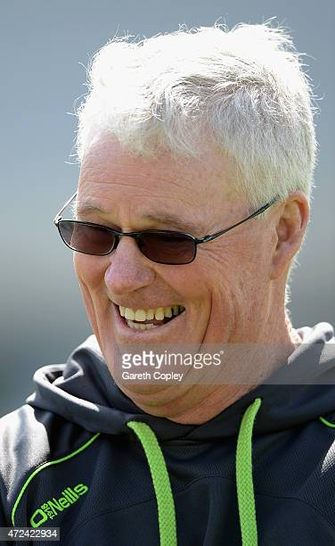 Ireland coach John Bracewell laughs during a nets session on May 7 2015 in Malahide Ireland