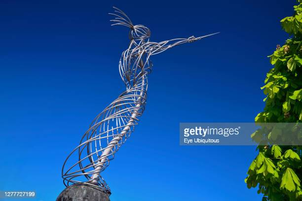 Ireland, County Antrim, Belfast, Beacon of Hope sculpture on Oxford Street, known locally as Nuala with the Hula.