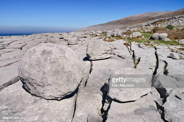 Ireland County Clare The Burren Rock boulders at Black Head
