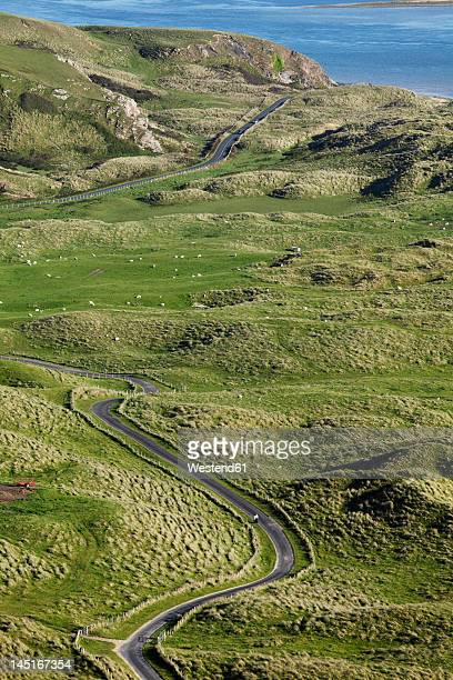 ireland, county donegal, view of inishowen peninsula - county donegal stock photos and pictures