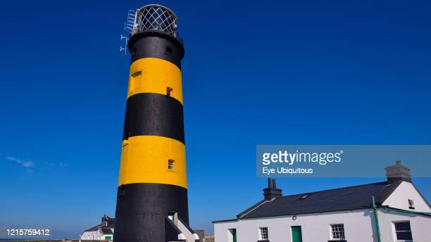 Ireland, County Down, Killough, St John's Point Lighthouse.