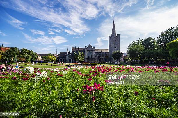 ireland, county dublin, dublin, wood quay, st patrick's cathedral and st patricks park - cathedral stock pictures, royalty-free photos & images