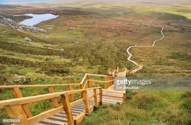 Ireland, County Fermanagh, Cuilcagh Mountain Park, Legnabrocky Trail.