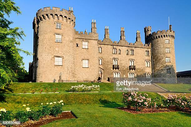 Ireland County Kilkenny Kilkenny Kilkenny Castle with the Rose Garden in the foreground