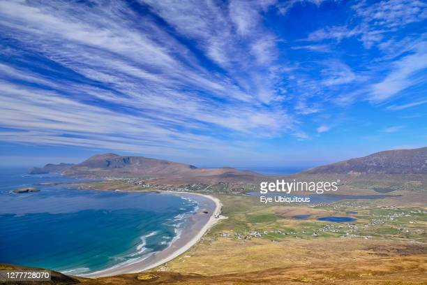 Ireland County Mayo View of Keel Beach from Minaun Cliffs