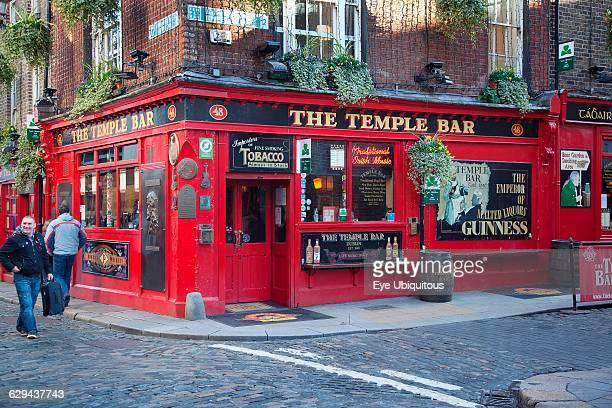 Ireland Dublin Temple Bar Exterior of the Temple Bar on the corner of Essex Street and Temple Lane East
