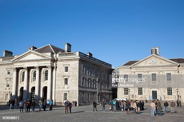 Ireland Dublin Trinity College buildings on College Green