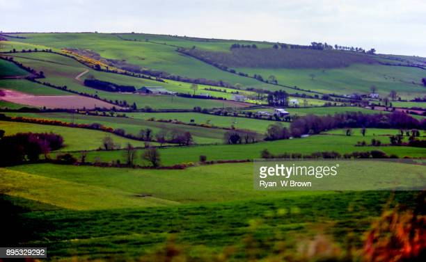 ireland, farmland, green valley - famine stock pictures, royalty-free photos & images