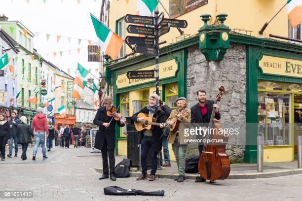 Ireland. Galway. Street musicians in Galway.
