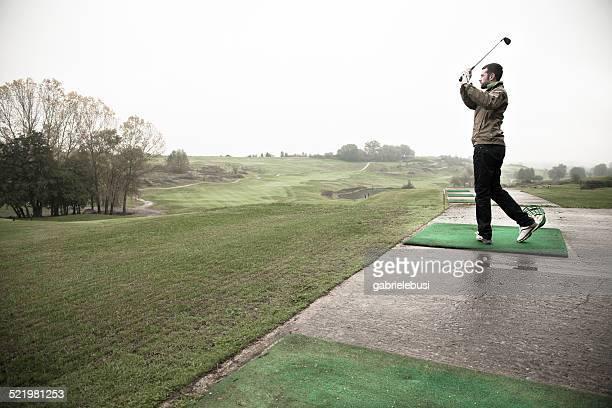 Ireland, Man playing golf